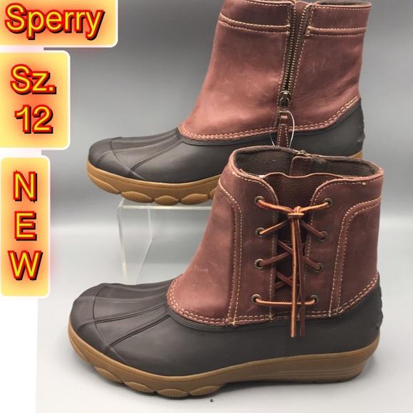 f628c8d1238 Sperry Women s saltwater Spray Wedge Duck boot 12